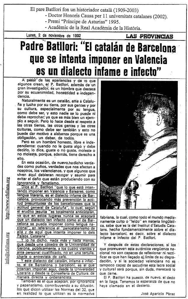 filologo catalan, padre Batllori